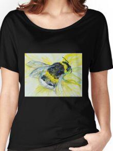 Bumble bee walk by Liz H Lovell Women's Relaxed Fit T-Shirt
