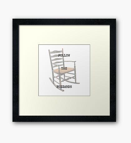 Follow The Buzzards Framed Print