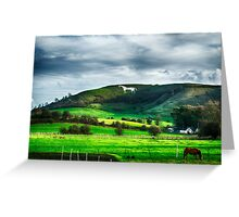 The White Horse Greeting Card