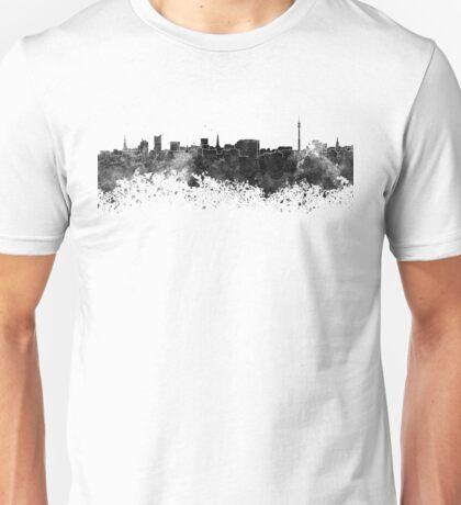 Dortmund skyline in black watercolor Unisex T-Shirt