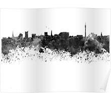 Dortmund skyline in black watercolor Poster