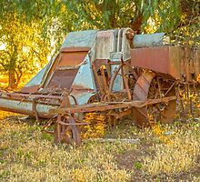 Days gone by..... old harvester. by mitpjenkeating
