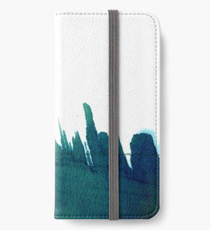 Cyanotype Design Abstract Landscape 3 iPhone Wallet/Case/Skin
