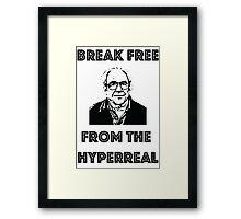 Break free from the hyperreal Framed Print