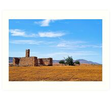 Abandoned home and rural property. near Hawker, South Australia. Art Print