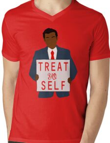 Treat Yo Self Mens V-Neck T-Shirt