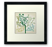 Science abstraction Framed Print