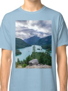 Mountains Sky And Water Classic T-Shirt