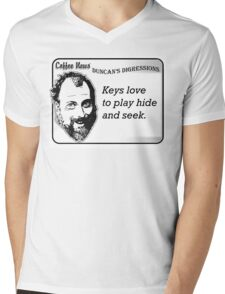 Keys Love to Play Hide and Seek Mens V-Neck T-Shirt