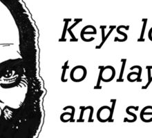 Keys Love to Play Hide and Seek Sticker