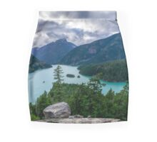 Mountains Sky And Water Mini Skirt