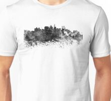 Durban skyline in black watercolor Unisex T-Shirt