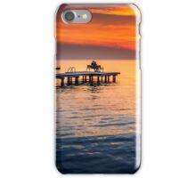 Romantic sunset on lake Neusiedl iPhone Case/Skin