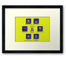 Wolverine Select Screen (Megaman Style) Framed Print