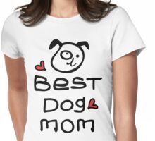 Best dog mom Womens Fitted T-Shirt