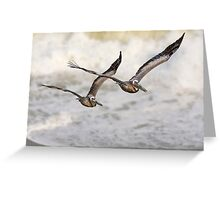 Never Leave Your Wingman - Pelican Pair Greeting Card