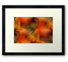 Abstract Orange Brown Yellow Colors Framed Print