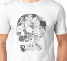 Skull Wanderlust Black and White Unisex T-Shirt