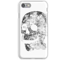 Skull Wanderlust Black and White iPhone Case/Skin