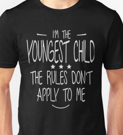 I'm the youngest child christmas shirt Unisex T-Shirt