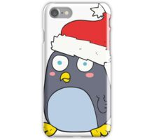 cartoon penguin in christmas hat iPhone Case/Skin