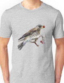 Fieldfare thrush Unisex T-Shirt