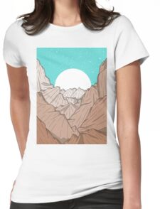 The Mountains of Old Womens Fitted T-Shirt