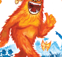 """Believe in Yourself!"" -Sasquatch Sticker"