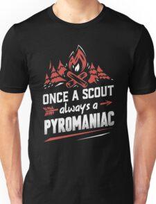 Once a scout always a pyromaniac christmas shirt Unisex T-Shirt