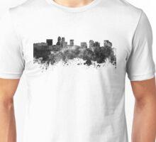 Newark skyline in black watercolor Unisex T-Shirt