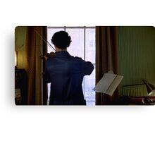 Sherlock and His Violin Canvas Print