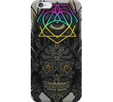 Winged Skull Scarab - Colors iPhone Case/Skin
