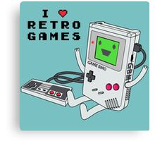 GBMO, The Retrogames Lover Canvas Print