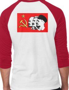 CORBYN, Red Flag, Comrade Corbyn, Leader, Politics, Labour Party, Black on White Men's Baseball ¾ T-Shirt