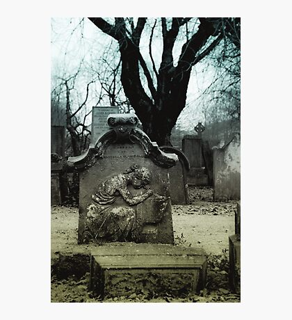Winter Tombstone Photographic Print