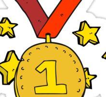 cartoon first place medal Sticker