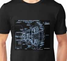 Mercury Capsule Technical Drawing Unisex T-Shirt