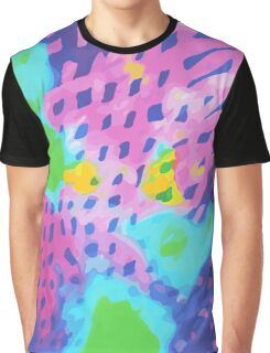 Purple Abstract Watercolor Painting Graphic T-Shirt