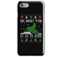 Oh What Fun Snowmobile iPhone Case/Skin