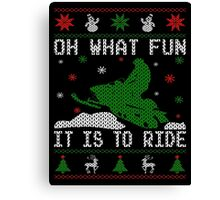 Oh What Fun Snowmobile Canvas Print