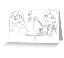 PENCIL ART - How To Enjoy A Meal By Ourselves Greeting Card