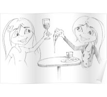 PENCIL ART - How To Enjoy A Meal By Ourselves Poster