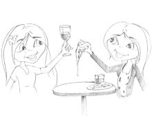 PENCIL ART - How To Enjoy A Meal By Ourselves Photographic Print