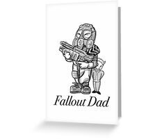 Fallout Dad (White) Greeting Card