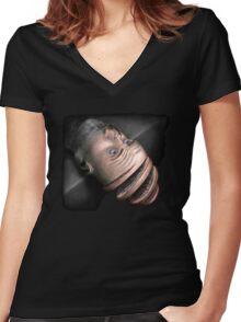 Falling Apart Women's Fitted V-Neck T-Shirt