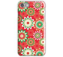 Christmas Floral Pattern iPhone Case/Skin