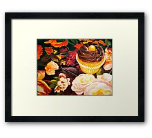 Cupcakes and Butterflies Framed Print