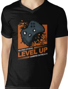Helping Others Level Up Mens V-Neck T-Shirt