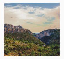Jalon Valley towards the Mediterranean Sea  One Piece - Short Sleeve