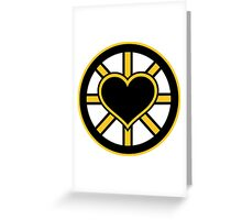 For the Love of Bruins Greeting Card